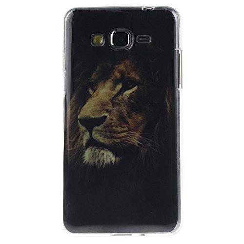 Samsung Galaxy Grand Prime hülle MCHSHOP Ultra Slim Skin Gel TPU hülle weiche Silicone Silikon Schutzhülle Case für Samsung Galaxy Grand Prime (SM-G530H SM-G530F) - 1 Kostenlose Stylus (Vans von der w der könig der löwen (The Lion King)