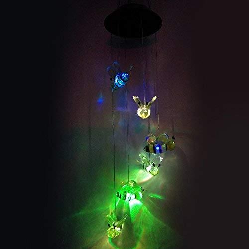 OIBHFO Home LED de Color Claro Que Cambia el carillón de Viento...