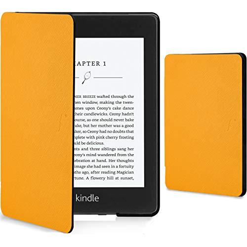 Forefront Cases Kindle Paperwhite 2018 Cover - Custodia Protettiva Magnetica Smart Auto Sleep Wake per Amazon Kindle Paperwhite (10ª generazione - modello 2018) - Sottile Elegante Leggera - Giallo