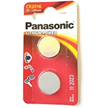 Panasonic CR2016 Lot de 2 piles plates au lithium 3 V
