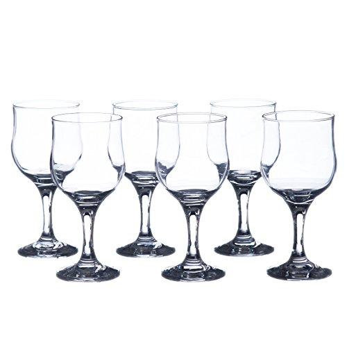 Tulpe Wein Gläser-Wasser/Getränk, Glas Set, 10.5oz (310ml), strapazierfähigem gehärtetem Glas, schwere Boden, Restaurant & Hotel Qualität 10.5 Oz farblos (Wein Gläser Waterford)