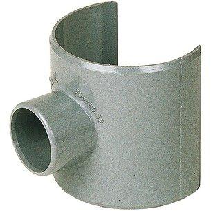 Selle de raccordement PVC gris - Femelle Ø 80 - 40 mm - Nicoll