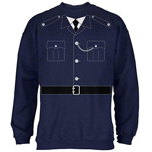 Halloween britische Bobby Kupfer Polizei Kostüm Herren Sweatshirt Navy 3 (Halloween Navy Kostüme Old)