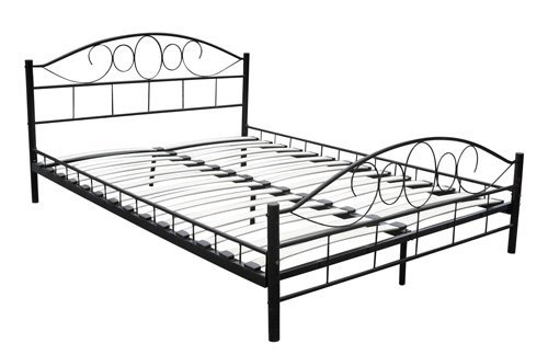 metal-bed-180-x-200-cm-black-curved