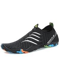 Voovix Calcetines de Agua Transpirable Aqua Unisex Zapatos de Agua Descalza de Secado Rápido Zapatillas Livianas Para Nadar Yoga…
