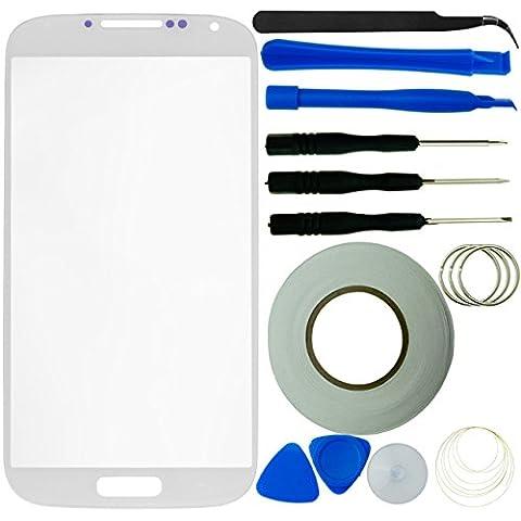Eco Fused - Kit de reparación de pantalla para Samsung Galaxy S4 i9500 (incluye pantalla, cinta adhesiva de 2 mm, herramientas y gamuza de microfibra), color