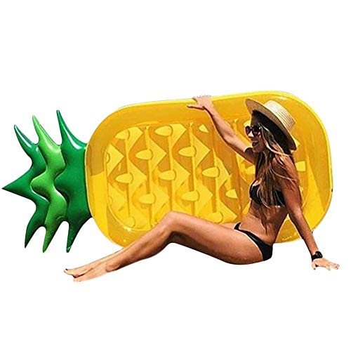 Pegtopone Luft Matratzen Ananas Aufblasbares Wassersofa Wasserreihe Schwimmkissen Bett Rettungsring Schwimmring für Männer und Frauen