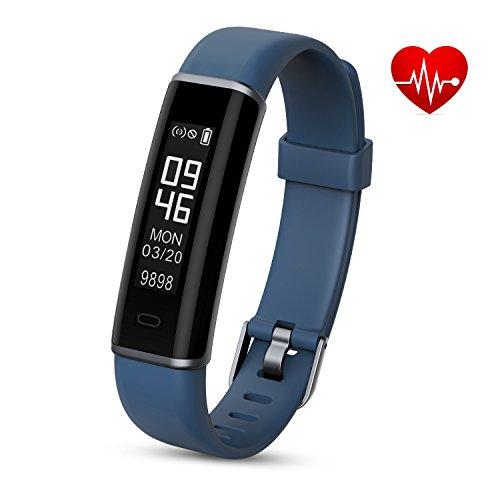 Shinmax Fitness Armband,Fitness Tracker mit Pulsmesser Schlaf-Monitor,Wasserdicht (Google Qq)