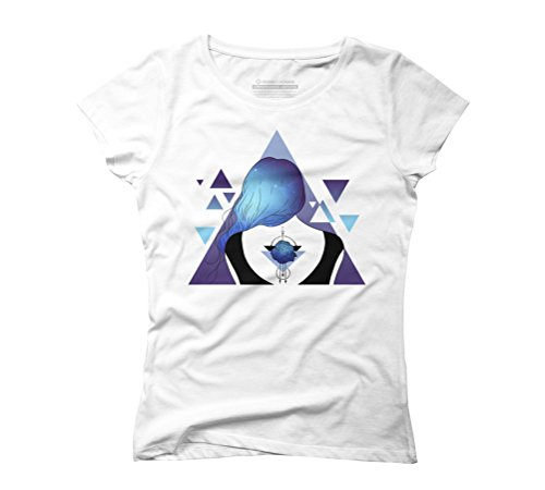 Universe Girl Women's Graphic T-Shirt - Design By Humans White