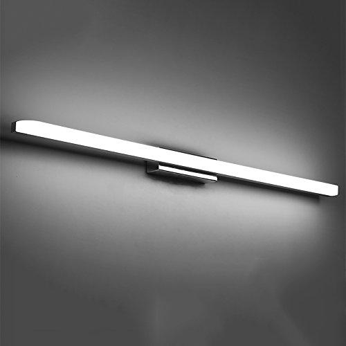 Luces de baño LED Moderna Impermeable Espejo Frente luz Simple Alargado atenuando baño Espejo gabinete...