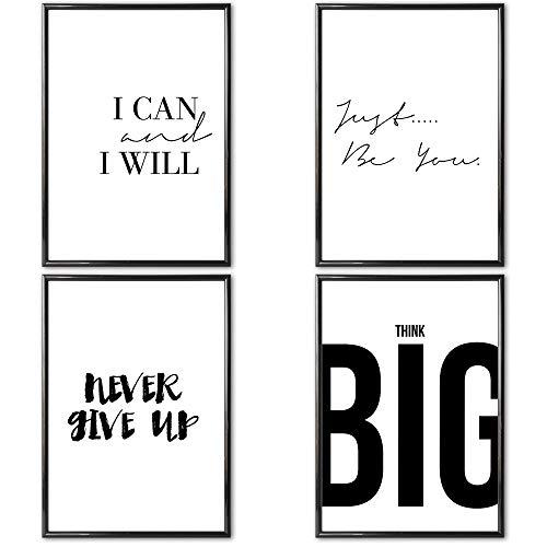 Heimlich® Premium Poster (4 Stück in DIN A4) | Große Auswahl an Motiven im Shop | auch mit Rahmen » Motivation III «