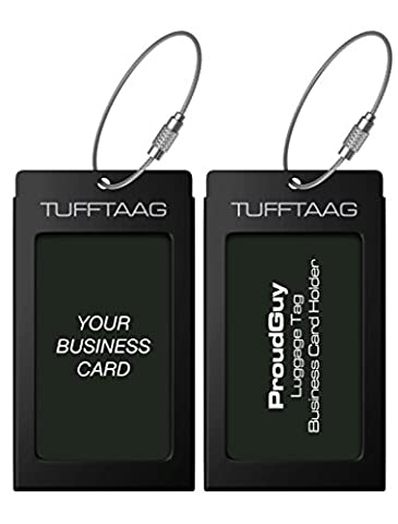 Luggage Tags Business Card Holder TUFFTAAG Travel ID Bag Tag in 10 Colour Options