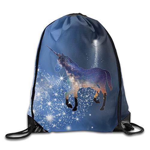 HLKPE SAXON13 Unisex Fashion Unicorn Drawstring Backpack White Sox Video