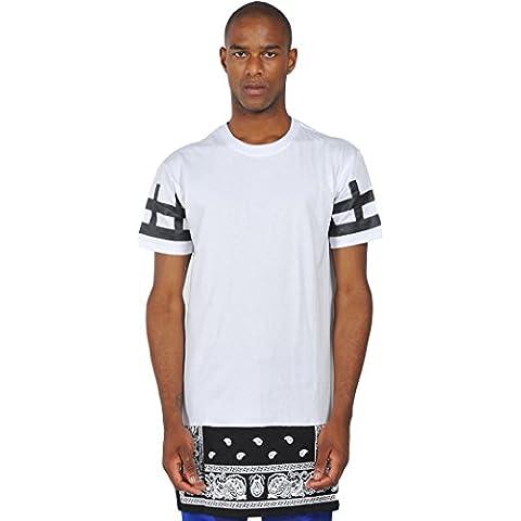 Camiseta larga con aplicación tejida y cremallera de extensión de Pizoff paisley