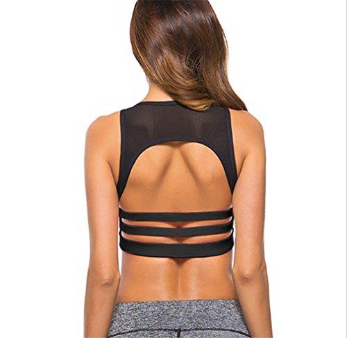 HAPPYMOOD Reggiseno sportivo donna 2PCS Design unico Esercizio di ginnastica Palestra coperta All'aperto In esecuzione Yoga Abbigliamento sportivo double