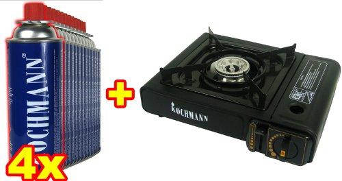 Kochmann Original Gaskocher + Koffer + 4 Gaskartuschen