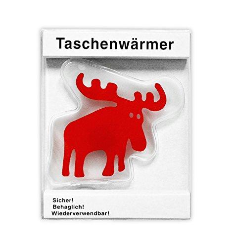 Handwärmer / Handofen / Taschenwärmer Elch (ca. 8 x 9 cm)