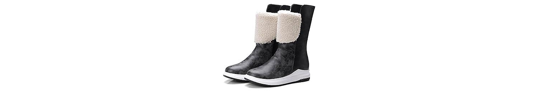 Sandalette-DEDE Botas de Nieve de la Dama, Tubo, Botas de Nieve, Tubo, cálidas Botas de Nieve, Negro, Treinta... -