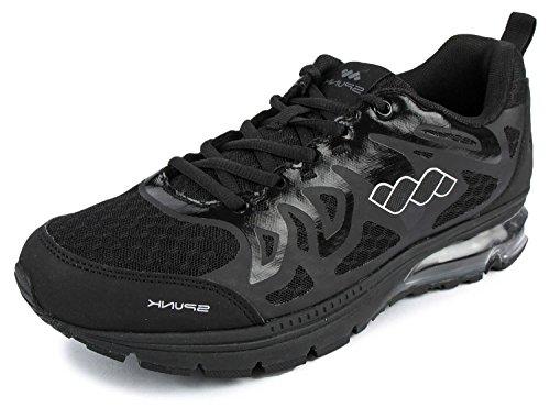 Spunk Men's Black Synthetic Running Shoes