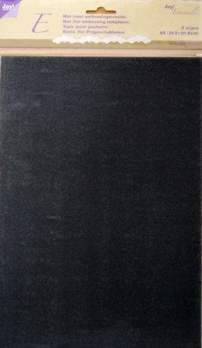 Joy!Crafts JOY! Trouvaille A4 Embossingmatten, Embossingmatte schwarz, Inhalt 2 Stück