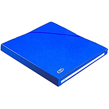Elba Eurofolio Alpina Chemise fermée par élastique Dos 25 mm A4 Bleu