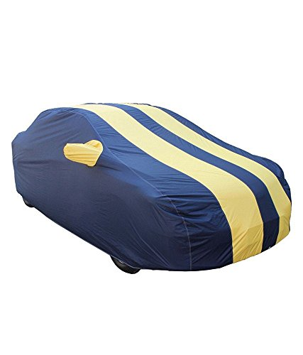 AUTO SHELTER Parachute Double Stiched Fusion (Royal Blue with Yellow Plated) Car Body Cover for Maruti Suzuki Swift - (With Side Mirror Pocket)  available at amazon for Rs.1789