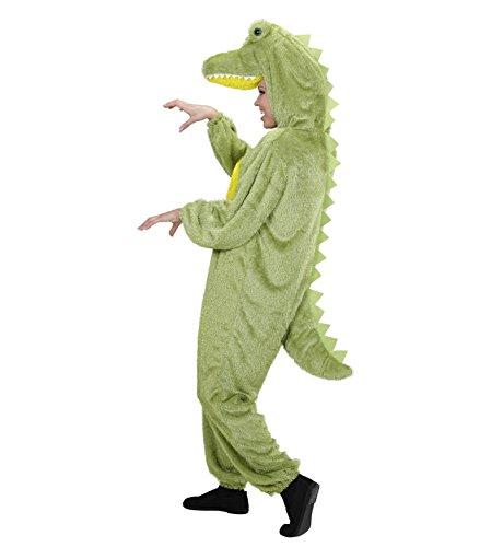 Für Plüsch Krokodil Erwachsene Kostüm - WIDMANN 9959B - Erwachsenenkostüm Krokodil, Overall mit Maske, Größe M / L