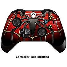 GameXcel ®  Controlador Xbox Una piel - Xbox personalizada 1 mando a distancia de vinilo pegatinas - Modded Xbox One Accesorios cubren la etiqueta - Widow Maker Black [ Controlador no está incluido]