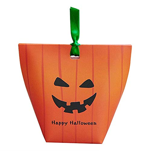 es - 20pcs Lot Halloween Folding Gift Bag Funny Ghost Candy Box Trick Or Treat Party Decoration Mischief - Box Plastic Bag Gift Gift Kraft Gift Bag & Paper Box Bag Dog Party ()