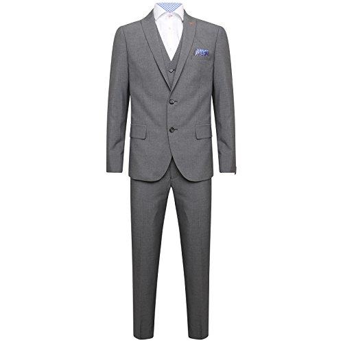 HARRY BROWN DANDY Drei Stück Slim Fit Anzug in Dunkelgrau 42R -