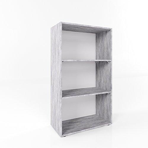Bücherregal 3 Fächer 117 x 60 cm - Wandregal Holzregal Aktenschrank Regal Ordner Akten Büro