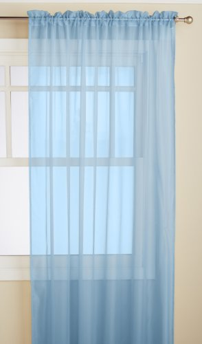 RT Designers Collection Celine Sheer Window Panel, 60-Inch by 90-Inch, Blue by RT Designers Collection