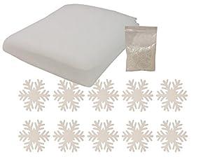 Heitmann Deco Schnee-Set - Deko-Schneeflocken, Kunstschnee-Pulver, Decke aus Schnee-Watte - Winter-Dekoration - Weihnachtsdeko