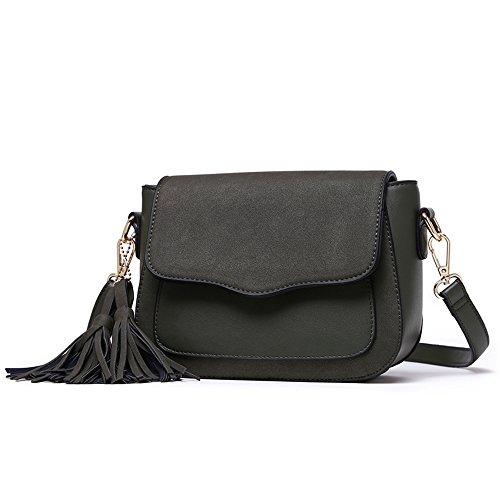 Pacchetto delle signore di modo, borsa personalizzata coreana di estate, zaino obliquo della spalla, piccolo pacchetto selvaggio ( Colore : Rosa ) Verde