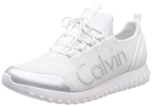 Calvin Klein Jeans Herren Ron MESH/Brushed Metal Sneaker Silber (Wsi 000) 44 EU