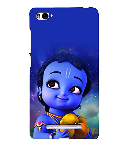 printtech Lord Krishna Cartoon Small Back Case Cover for Xiaomi Redmi Mi4i::Xiaomi Mi 4i