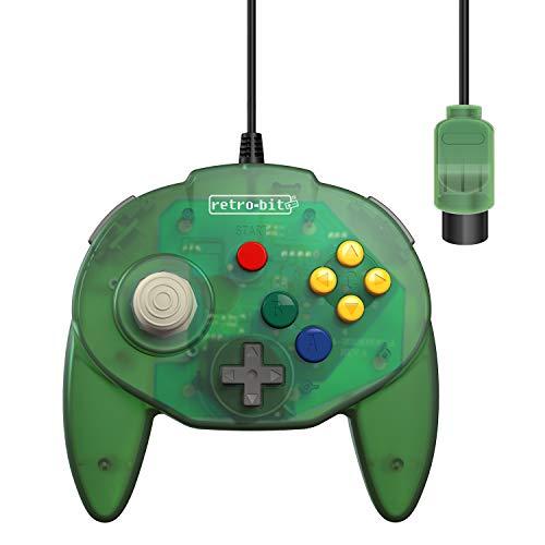 Retro-Bit Tribute 64 Controller für Nintendo 64, Original-Port, Waldgrün (Retro Controller Nintendo)