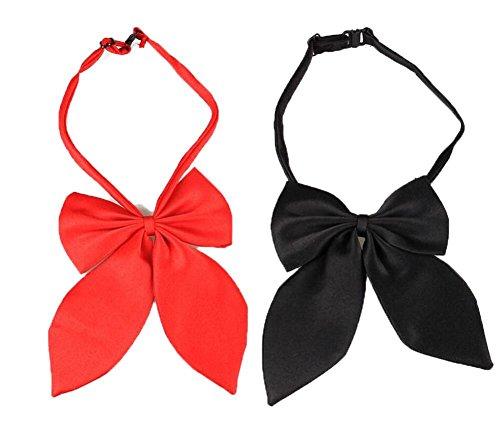 Ylen 2 x Einstellbar Hunde Bogen Hals Krawatten Haustier Fliege Kragen Halskette Perfekt Kostüme für Hochzeits (Hund Tragen Paket Kostüm)