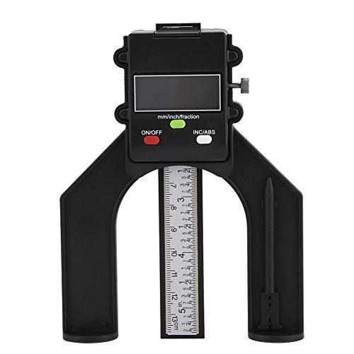 Digital Tiefenmesser, 0-80mm Tiefenmessgeräte Höhenmessgerät INC/ABS Höhen-Tiefenanzeige mit Magnetischen Füßen