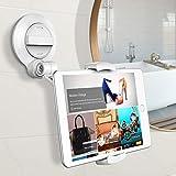 Cocoda Soporte Tablet, Universal Soportes Movil iPad Mesa con Ventosa Grande Más Fuerte, Porta Sujeta Tablets para Baño/Pared/Cocina/Oficina/Coche, Compatible con iPhone iPad Samsung Galaxy Tab y Más