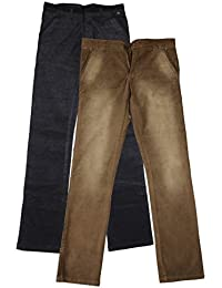 Dress Code Clothing Men's Trouser (Black And Brown, Set Of 2, 32)