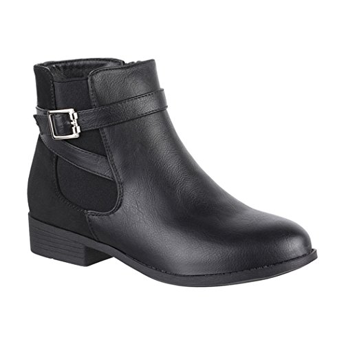 Elara , Boots Chelsea Femme - Noir - Noir, 38 EU