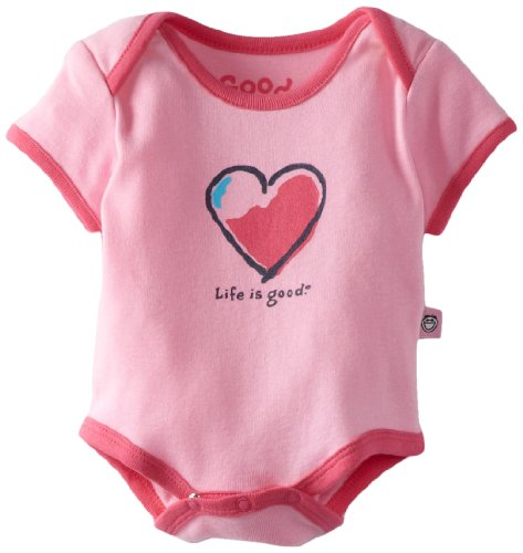 Herz Infant Bodysuit (Life is Good Baby Herz One Peace, petal pink)