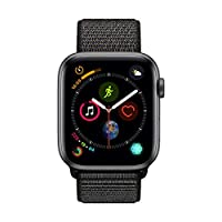 Apple Watch Series 4-40mm Space Gray Aluminum Case with Black Sport Loop, GPS, watchOS 5