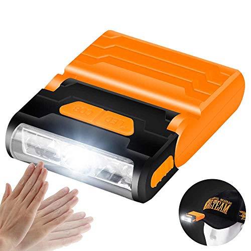 TOOGOO Induktionskappe Licht Blendung Aufladung Led Angeln Licht Im Freien Wasserdichte Nacht Angeln Cod Kappe Lampe Eingebaute 500Mah Lithium Batterie