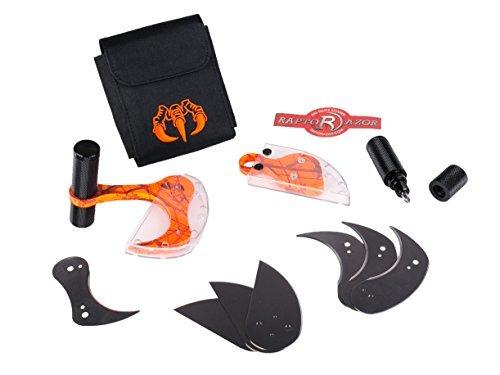 raptorazor Aluminium Big Game Skinner & Mako Combo, Orange and Black Camo Print