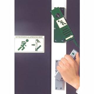 Türwächter grün für Paniktreibriegel rechtsöffnend mit Profilhalbzylinderschloß