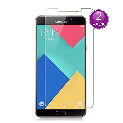 E-Hamii [2-Pack] Protector de Pantalla para Samsung Galaxy A5 2016, 9H Vidrio Templado Protectora, HD Proteger Película Anti-Scratch y Anti-Huella Digital (Nota: no Cobertura Completa)