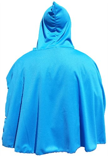 �llig unverfroren/Elsa Kinder Kostüm Umhang mit Kapuze, Blau oder Pink (Elsa Cape Kostüm)