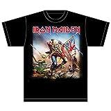 Collectors Mine - Camiseta de Iron Maiden con cuello redondo de manga corta para hombre, color negro, talla XL